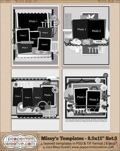 Missy's Templates Set.5 (8.5x11)