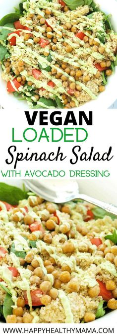 YUM!! This salad is so good!! Even though it's vegan it is hearty and filling and has a great creamy dressing. Winner!! Love this healthy vegan salad recipe idea.