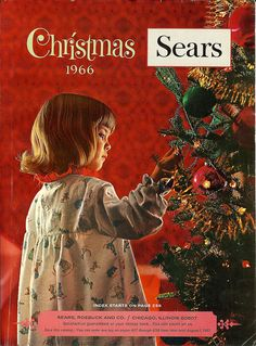 The day the annual Sears Christmas catalog arrived in the mail was a jubilant day! Kids poured over that thing! <> (retro, vintage, yesteryear, Xmas)