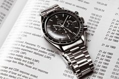 ❦ Vintage Omega Speedmaster. Omega ref. 145.012-67 Speedmaster cal. 321, as worn on the moon by Apollo astronauts. With 1171/633 bracelet. Switzerland is responsible for half of the world production of watches