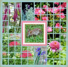 flower mosaic moments scrapbook page by tami potter - gorgeous.  http://blog.tamipotter.com/photos/mosaic_moments/bunnyflowers-wb.html