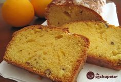 Bizcocho ó Quatre quarts de naranja Köstliche Desserts, Delicious Desserts, Semolina Cake, Pound Cake Recipes, Food Cakes, Mexican Food Recipes, Spanish Recipes, Yummy Cakes, How To Make Cake