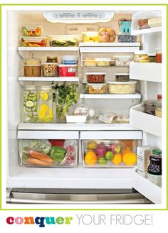 Finally. An organized fridge.