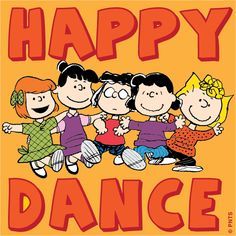 Peanuts gang doing their happy dance Peanuts Cartoon, Peanuts Snoopy, Peanuts Comics, Snoopy Love, Snoopy And Woodstock, Happy Dance, Just Dance, Line Dance, Friday Dance