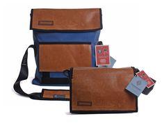 Tasche Flick Flack C aus recyceltem Sportgeräteleder von Zirkeltraining bei KultDesignUnikate