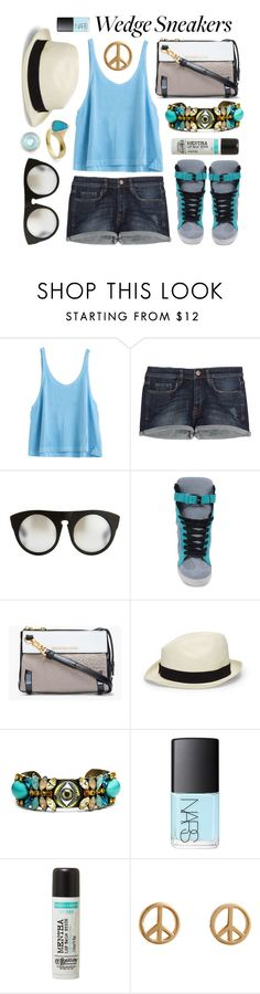 """What Do You Wear With Wedge Sneakers?"" by ashley-rebecca ❤ liked on Polyvore featuring mode, dVb Victoria Beckham, Alexander Wang, Casadei, Marc by Marc Jacobs, Club Monaco, DANNIJO, NARS Cosmetics, C.O. Bigelow et Minor Obsessions"