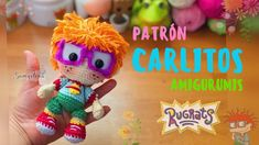 Carlitos Rugrats amigurumi español/ingles - YouTube Paola Martinez, Christmas Ornaments, Sewing, Holiday Decor, Disney, Pattern, Youtube, Friends, Articles