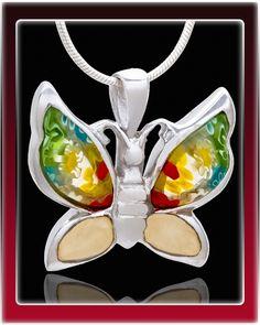 Sterling silver Butterfly pendant. $119.99