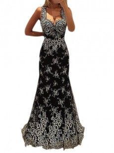 Printed Graceful Sweetheart Party-dress