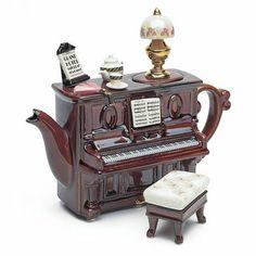 Piano Tea Dance - Second image Tea Cup Saucer, Tea Cups, Cute Teapot, Teapots Unique, Vintage Teapots, Teapots And Cups, Tea Art, Chocolate Pots, My Tea