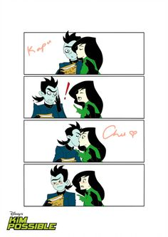 Drakken and Shego in Kapu-Chu! by PSI-missing Cartoon Video Games, Video Game Movies, Disney Art, Disney Pixar, Kim Possible Characters, Female Dragon, Cartoon People, Sheego, Halloween Town