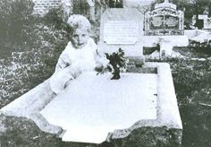 In 1946, Mrs. Andrews took this picture of her deceased daughter's gravestone in Queensland, Australia. Her daughter had been just 17 when she'd died the previous year. When the film was developed, Mrs. Andrews was shocked to see the image of an infant girl looking directly into her camera. There had been no children in the cemetery that day. Years later Australian paranormal researcher Tony Healy investigated and found the graves of two infant girls very near to Mrs. Andrews' daughter's gra...
