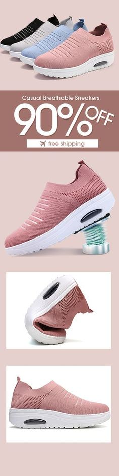 Women Casual Mesh Comfortable Breathable Pure Color Sneakers in 2019 Fab Shoes, Me Too Shoes, Casual Shoes, Shoes Men, Men Casual, Sneakers Mode, Sneakers Fashion, Adidas Nmd, Athletic Fashion