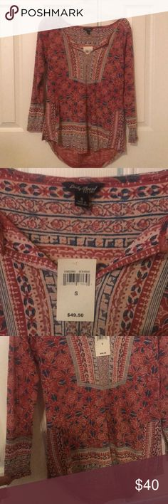 Lucky Brand top. New with tag. Longsleeve lucky brand top. New with tag. Smoke-free home. Lucky Brand Tops