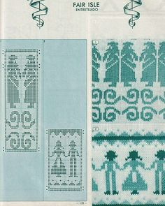 Amazing Fair Isle patterns can be found here!   Pattern Library for Punch Card Knitters №1 1973