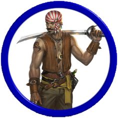 m Rogue Thief Pirate leather sword lwlvl token Living: Princes of the Apocalypse Virtual Tabletop, Space Opera, Pirate Sword, Storm King, Dungeons And Dragons Homebrew, Dark Fantasy Art, Home Brewing, Apocalypse, Pirates