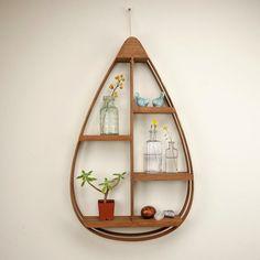 Large Eco-Friendly Wooden Shelf - 5 shelves with Walnut Finish #HandmadeHomeDecor #woodenecohouse