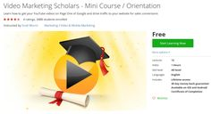 Video Marketing Scholars - Mini Course / Orientation http://ift.tt/1ZwZirI  #udemy #coupon #discount