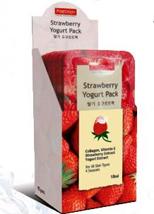Purederm - A wash-off type facial mask made from yogurt, collagen, Vitamin E, and various fruit extracts. The kiwi mask helps to exfoliate dead skin cells while the strawberry mask helps to control out excess sebum and oil, both effective for maintaining a healthy, glowing complexion.