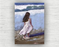 Summer Breeze - Oil Painting Print Home Decor Wall Art Print on Wood Block Seaside Art, Coastal Art, Painting Prints, Wall Art Prints, Fine Art Prints, Wooden Wall Art, Large Wall Art, Wood Wall, Nautical Art