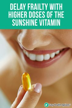 <p>From preventing osteoporosis to shoring up your immune system, vitamin D is one of the most important supplements you can take. But most people are barely getting the minimum when there's good reason to get more. To avoid frailty, stay strong, fit and active, higher amounts matter.</p> Vitamin D Supplement, Health Options, Higher Dose, Mortality Rate, Bone Density, Irritable Bowel Syndrome, Nutritional Supplements, Stay Strong, Physical Activities