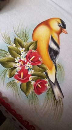 Bird Painting Acrylic, Acrylic Art, Saree Painting, Fabric Painting, Ariana Grande Drawings, Fabric Paint Designs, Bird Coloring Pages, Feather Art, Butterfly Art