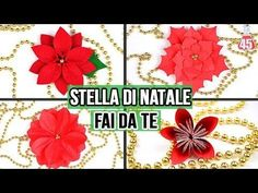 4 ways to make christmas flower poinsettia   Christmas decoration