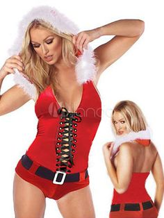 Red Santa Women s Enticing Christmas Costumes - Milanoo.com Halloween  Costumes For Work 7c625608e