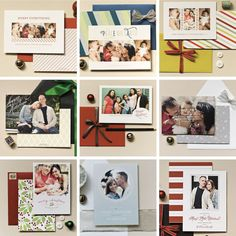 THE 2013 HOLIDAYCOLLECTION by Sincerely, Jackie. Flat print holiday cards with classic charm and fun colors. Available for a limited time