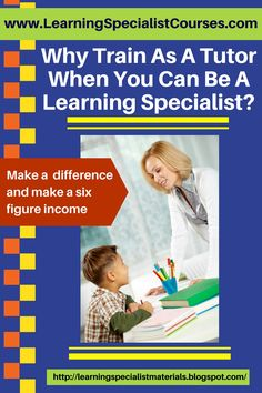Learning Specialist and Teacher Materials - Good Sensory Learning: Why Train as a Tutor When You Can Be a Learning Specialist?