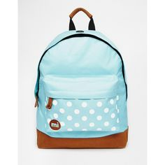 Mi-Pac Backpack in Mint with Contrast Spot Pocket ($40) ❤ liked on Polyvore featuring bags, backpacks, aquawhite, backpacks bags, pocket backpack, mint green backpack, rucksack bag and mint blue backpack