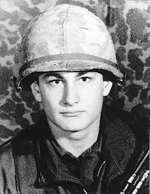 This photo is of Michael R. Blanchfield. He received the Medal of Honor posthumously after serving as a specialist four in the army. He fought at Binh Dinh Province, Republic of Vietnam during July 3, 1969. He was killed because he smothered a grenade to protect others lives.