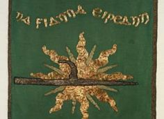 Britain to return 1916 banner seized as war trophy from Countess Markievicz's home Easter Rising, Fight For Freedom, Dublin Ireland, Coat Of Arms, Britain, Irish, Banner, War, People