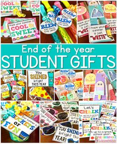 Inexpensive Graduation Gifts easy end of the year gifts for students {free gift tags}