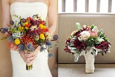 gorgeous bouquets with pincushion protea