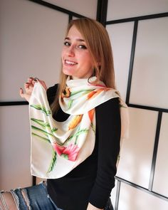 "Hand painted silk satin scarf ""Poppies in white"" by KseniaSilkArt on Etsy French Silk, Painted Silk, Hand Painted, Silk Painting, Silk Scarves, Silk Satin, Poppies, Your Style, Pure Products"