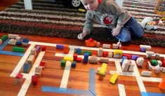 Block City by handsonaswegrow: Build a city with blocks and tape! #Kids #Blocks