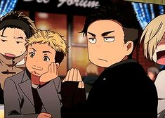 """taro-k: """" idk but this totally happened, Otabek was like, 1 time portal away from being a knight in shining armor :^) Also, if you ship Viktor and Yuuri, you might wanna check out our YOI artzine..."""