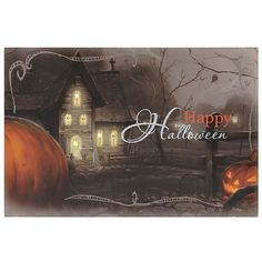 Happy Halloween Spooky Block LED Wall Plaque ($15) ❤ liked on Polyvore featuring home, home decor, holiday decorations, black and white home decor, wall home decor, holiday window decor, wall plaques and quote plaques