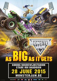 28 June - Brussels - www. Monster Truck Jam, Fire Starters, Brussels, June, Comic Books, Big, Places, Cartoons, Comics