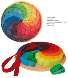 Grimm's Large Rainbow Spiral Puzzle | Little Acorns to Mighty Oaks