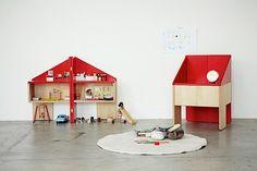 Design: Puppenhaus und Stuhl in einem