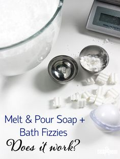 """Soap Box Questions: """"Can I Add Melt and Pour to Bath Bombs?"""" Learn what happens when you add soap to bath bombs!"""