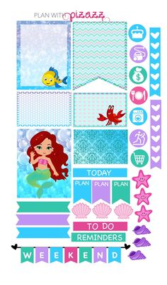 LITTLE MERMAID Inspired Weekly theme sticker set Perfect for Erin Condren Life Planner by PlanwithPizazz on Etsy https://www.etsy.com/listing/258747420/little-mermaid-inspired-weekly-theme
