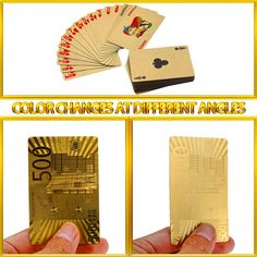 Waterproof Luxury Gold Foil Plated Poker Cards // Price: $10.95 & FREE Shipping //  We accept PayPal and Credit Cards.    #gameronboard #boardgame #cardgame #game #puzzle #maze #toys #chess #dice #kendama #playingcards #tilegames