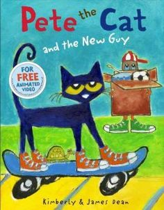 Pete the Cat and the new guy New Children's Books, Children Books, Young Children, Burlington Massachusetts, Peabody Massachusetts, Platypus, Pete The Cats, Skokie Illinois, Chicago Illinois