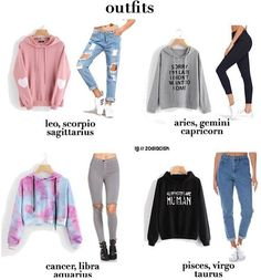 A zodiac outfit I like, minus the length of the crop top. Zodiac Signs Astrology, Zodiac Capricorn, Zodiac Star Signs, Aquarius Astrology, Teen Fashion Outfits, Outfits For Teens, Zodiac Clothes, Zodiac Sign Fashion, Jugend Mode Outfits