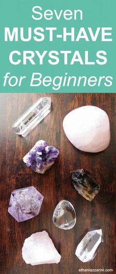Crystals For Beginners: Begin your Crystal Healing journey with these Must-Have crystals. Seven essential crystals nobody should be without! Gems And Minerals, Crystals Minerals, Crystals And Gemstones, Stones And Crystals, Healing Crystals, Gem Stones, Wicca Crystals, Chakra Crystals, Chakra Stones