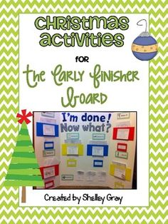 FREE! Christmas Activities {for the Early Finisher Board}