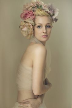 beautiful photo of woman wearing a flower crown by Sue Bryce